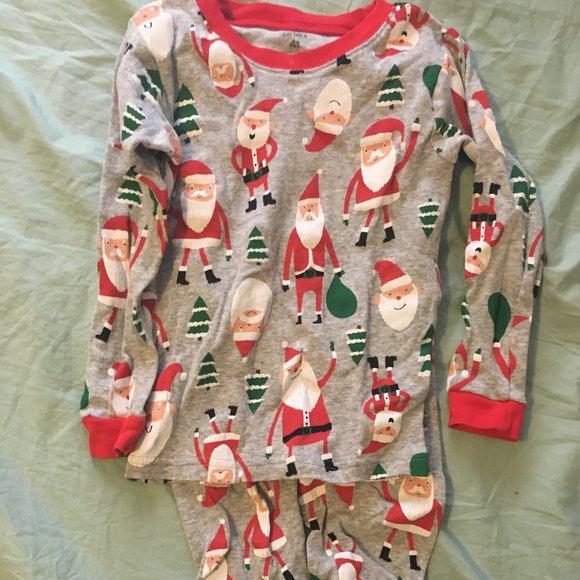 Carter's Santa print pajamas 4T